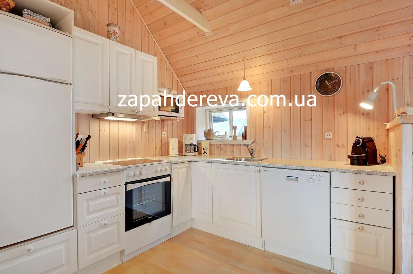 Дизайн потолков кухни из вагонки